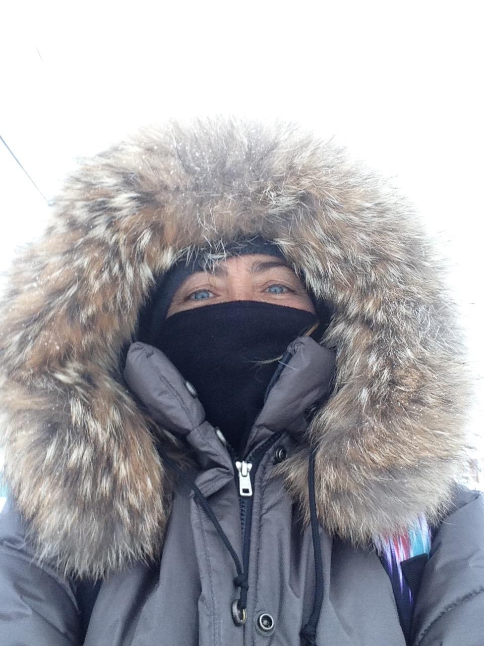 Un manteau avec col de fourrure est indispensable!!