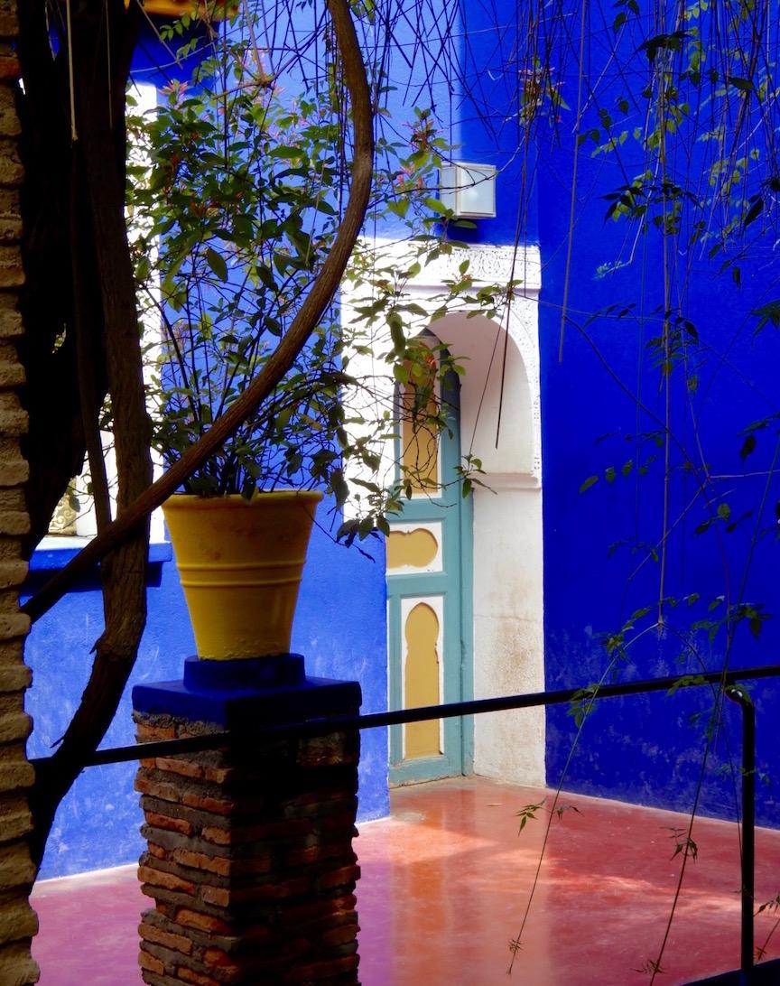 Maroc Plonger Dans Le Bleu Du Jardin Majorelle Nat Monde