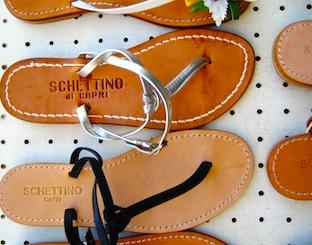Les fameuses sandales made in Capri